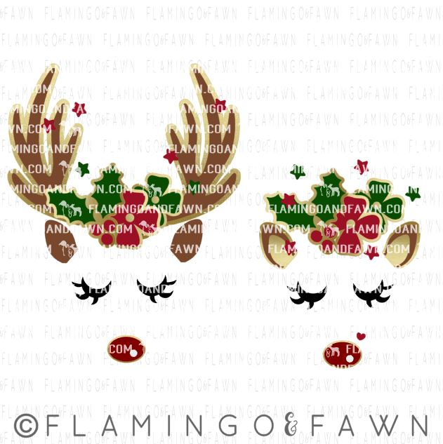 reindeer face svg