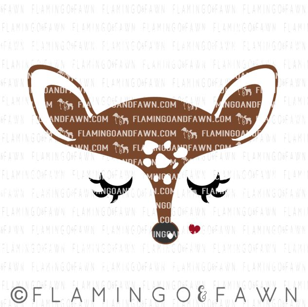 fawn face svg