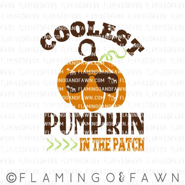 coolest pumpkin svg