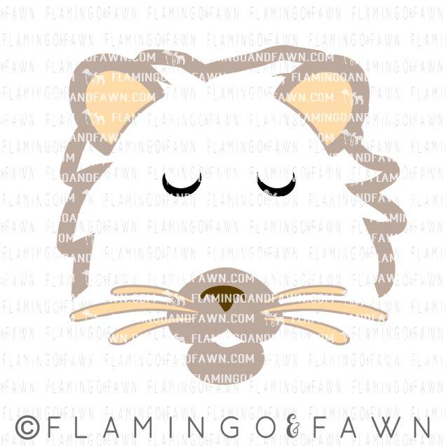 lion face svg files