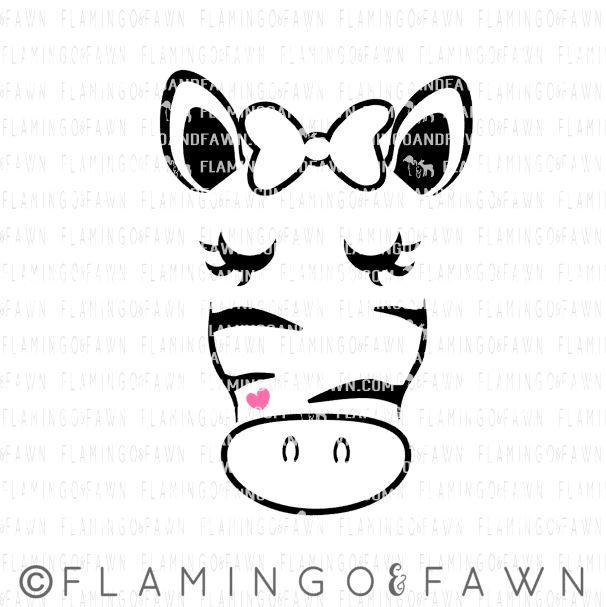 zebra face svg