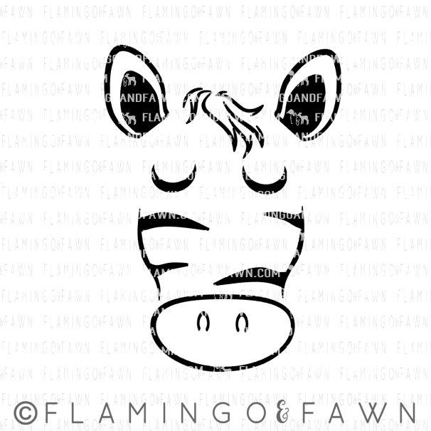 zebra face svg files