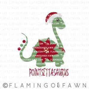dinosaur christmas svg