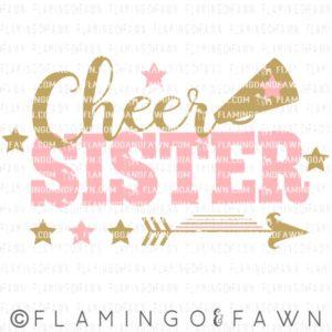 cheer sister svg