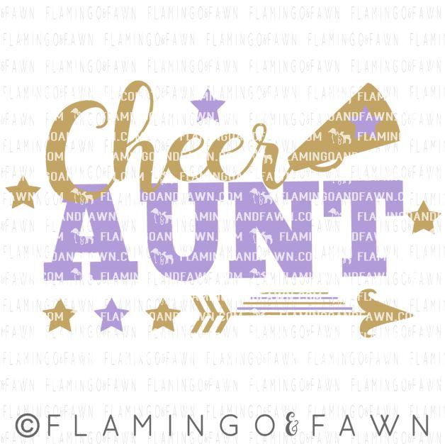 Cheer aunt svg