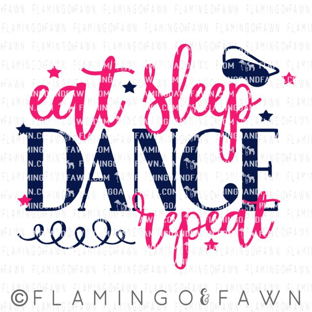 EAT SLEEP DANCE REPEAT svg