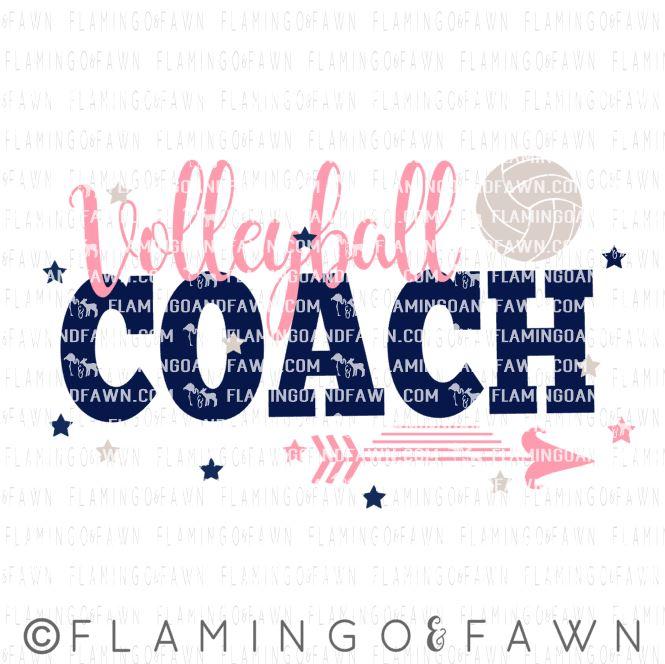 Volleyball coach svg