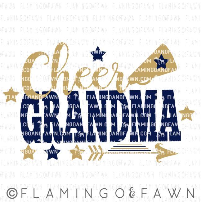 cheer grandma svg