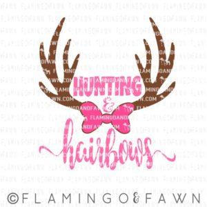 hunting girl svg