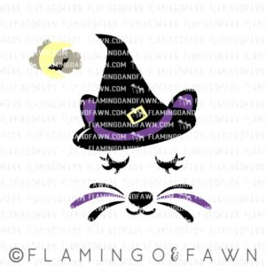 cat face halloween svg