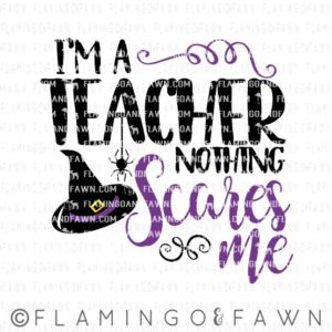teacher halloween svg