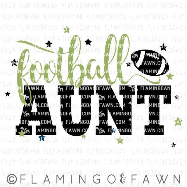 football aunt svg