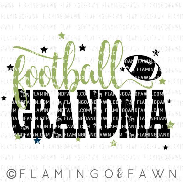 football grandma svg