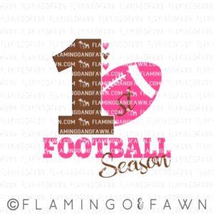 1st football season girl svg