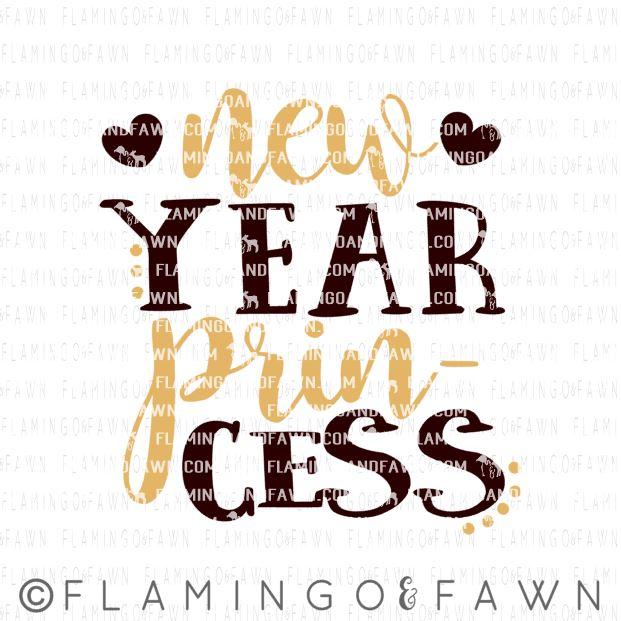 new year girl svg files