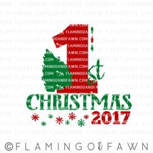 1st christmas 2017 svg