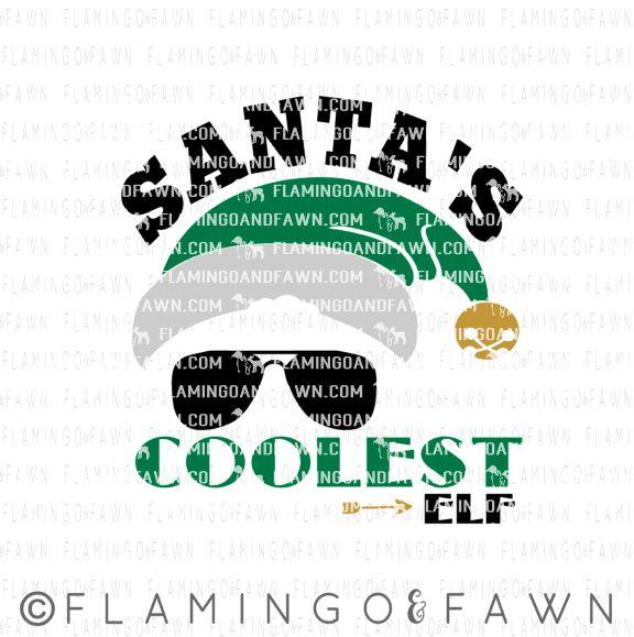 santas coolest elf svg