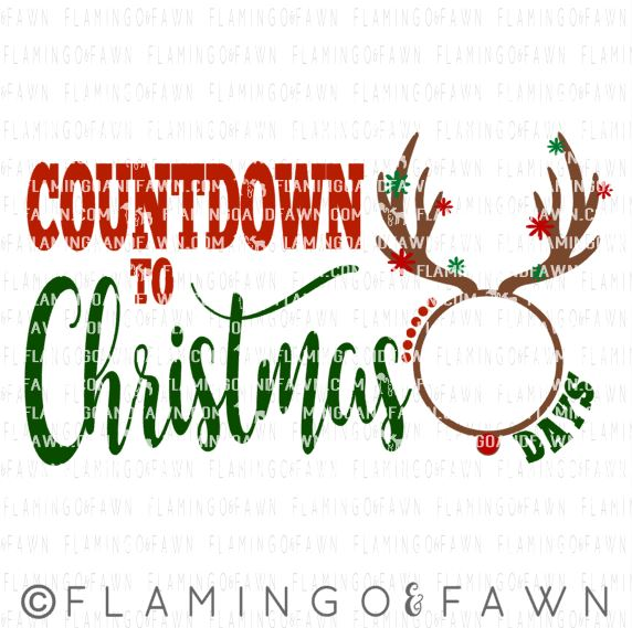 countdown to christmas svg