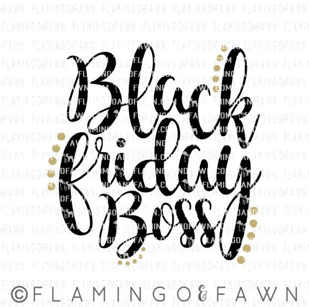 black friday boss svg