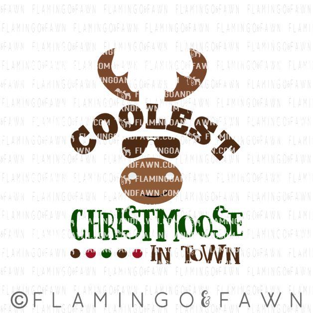 christmas moose svg