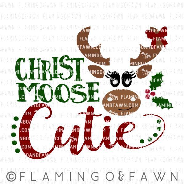 moose christmas svg