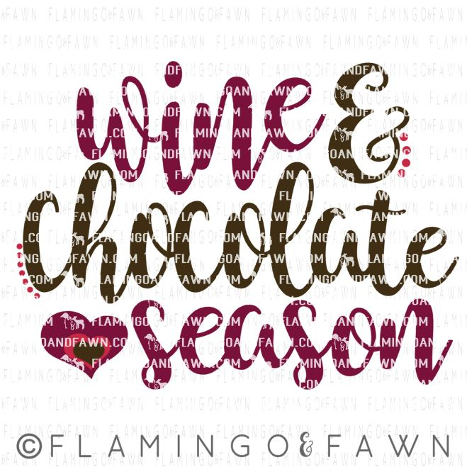 wine and chocolate svg