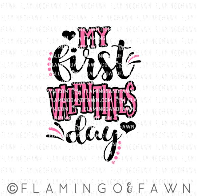 My First Valentines Day Flamingo And Fawn