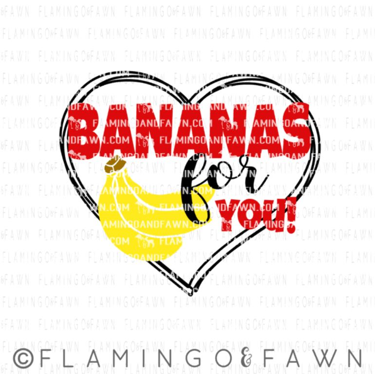 banana valentine svg