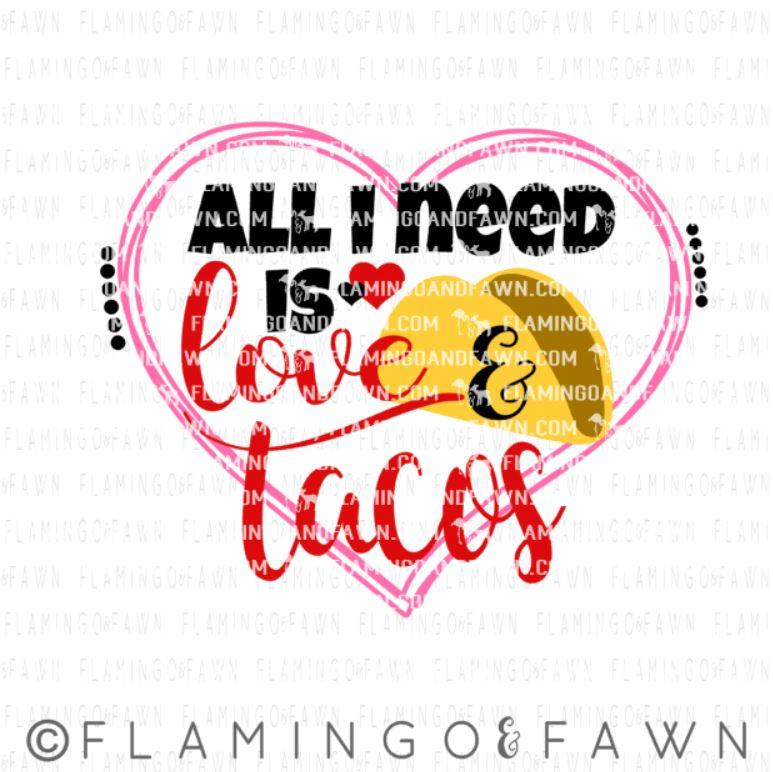 valentine taco svg