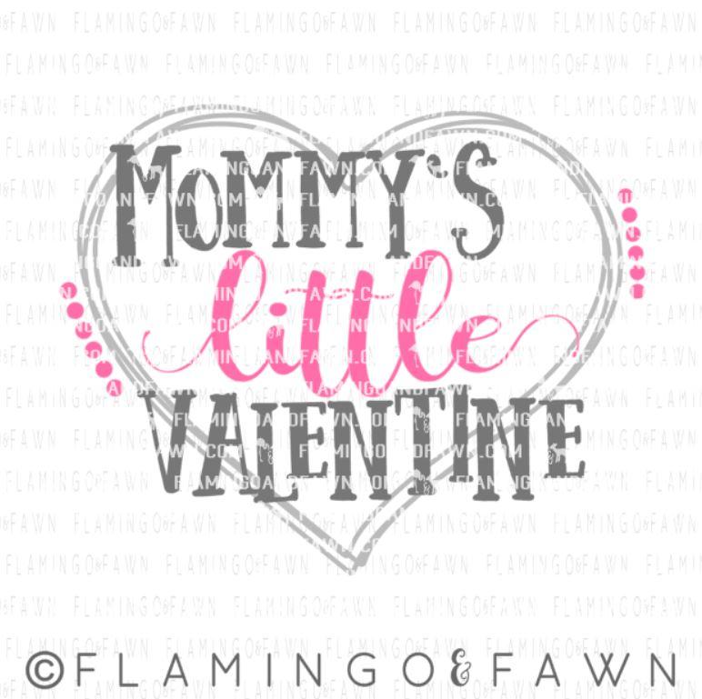 mommys valentine svg