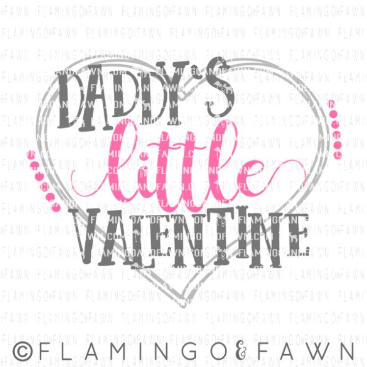 daddys valentine svg
