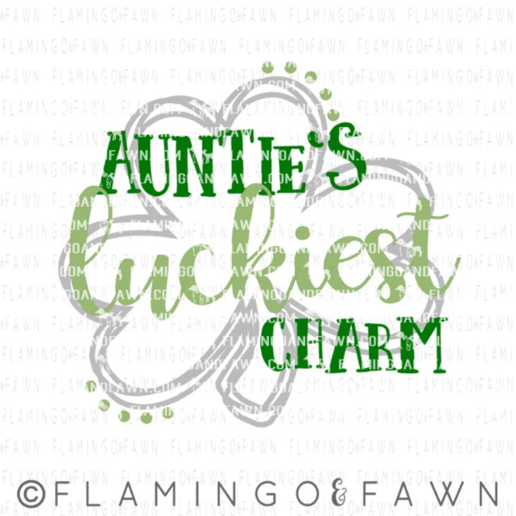 aunties lucky charm svg