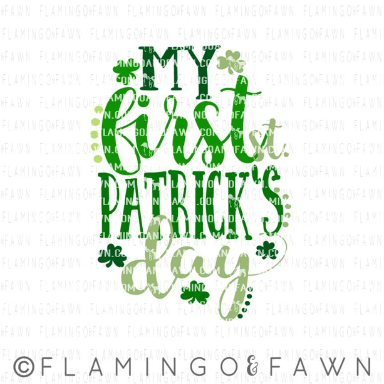 first st patricks day svg