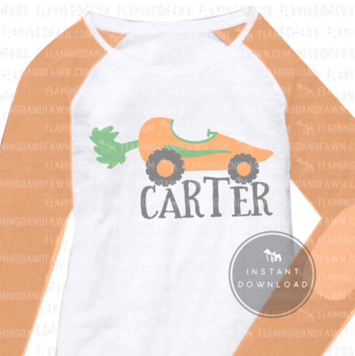 easter carrot svg
