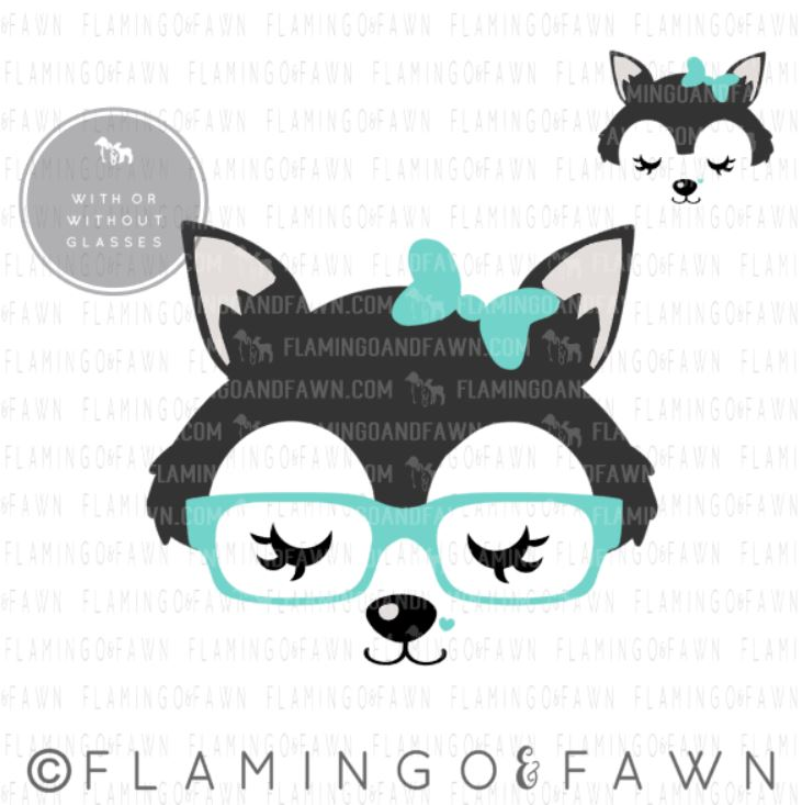 wolf face svg