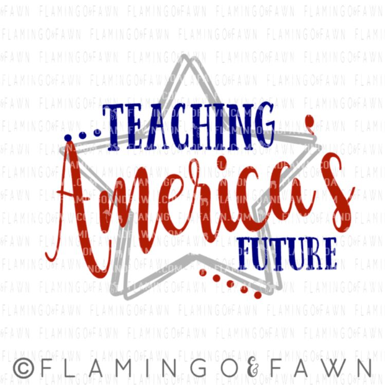 4th of july teacher svg