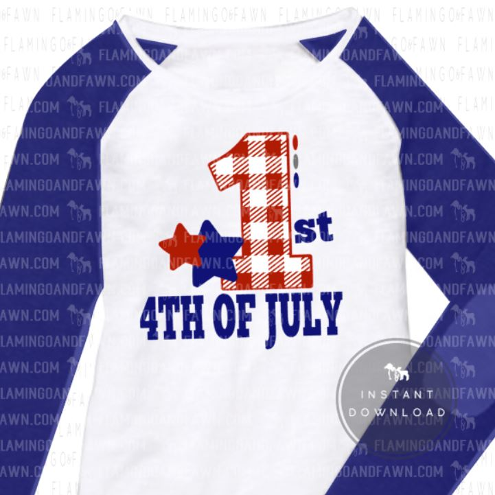 1st 4th july svg