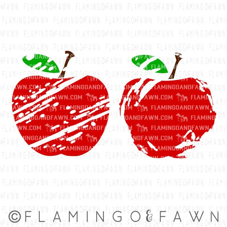 distressed apple svg