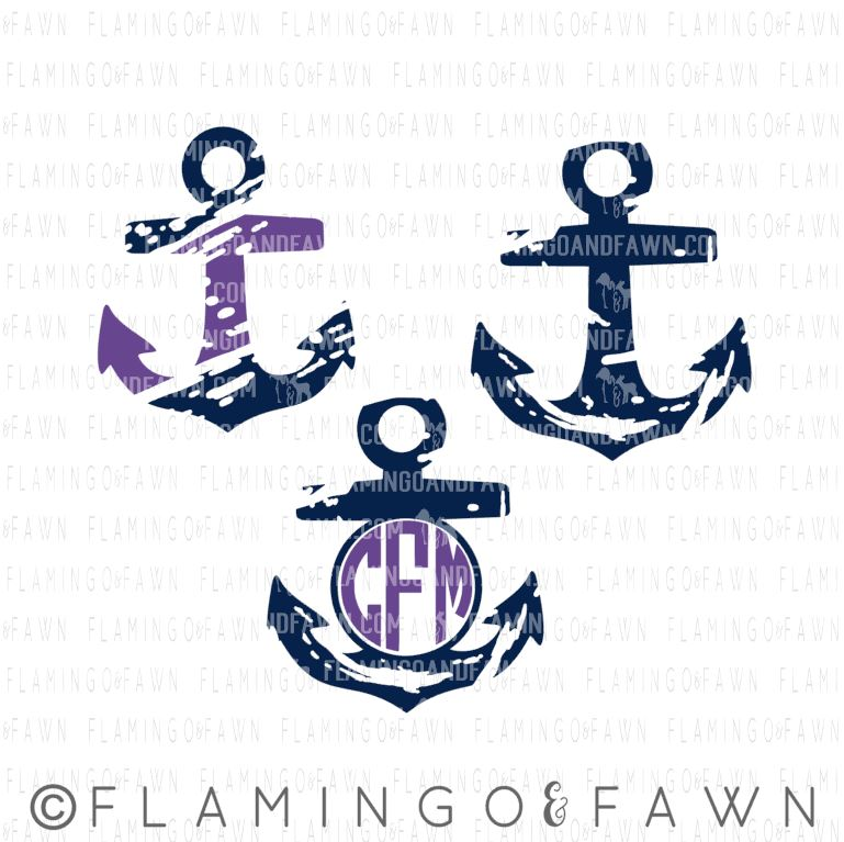 Distressed Anchors svg