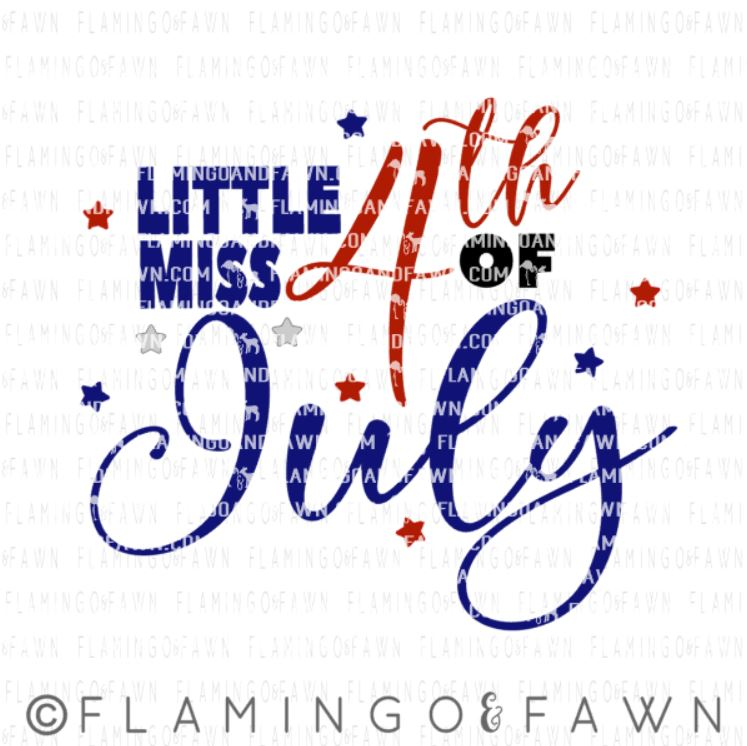 little miss 4th of july svg