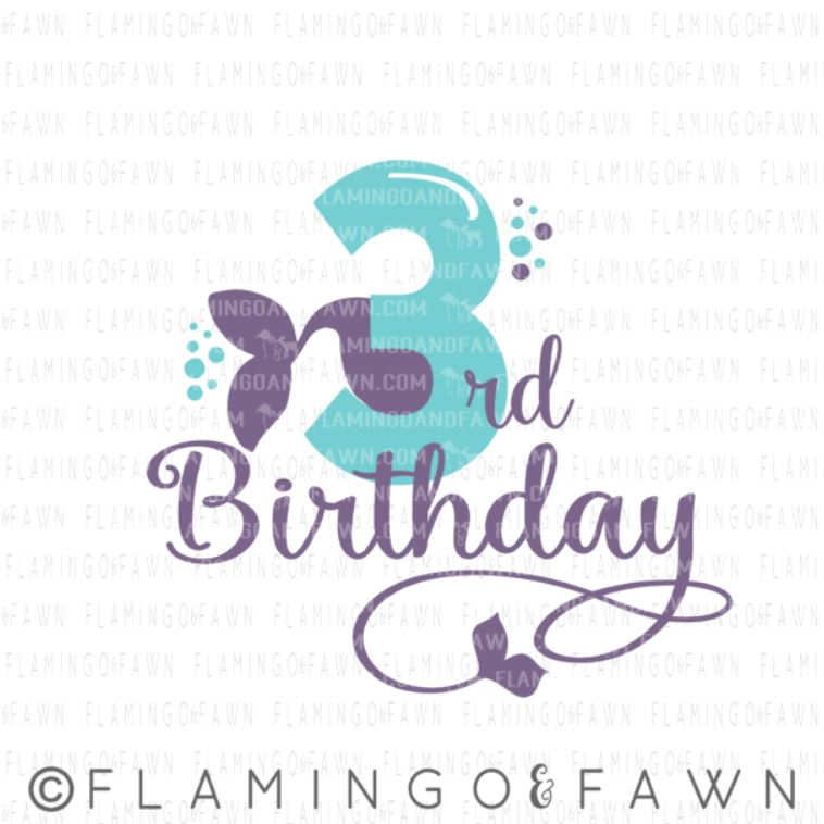 3rd birthday mermaid svg