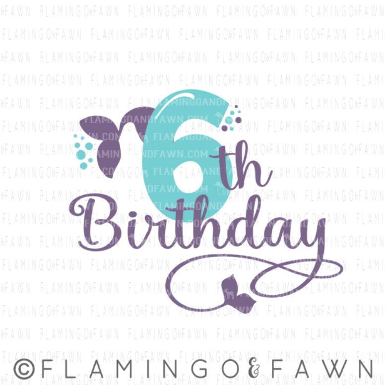 6th birthday mermaid svg