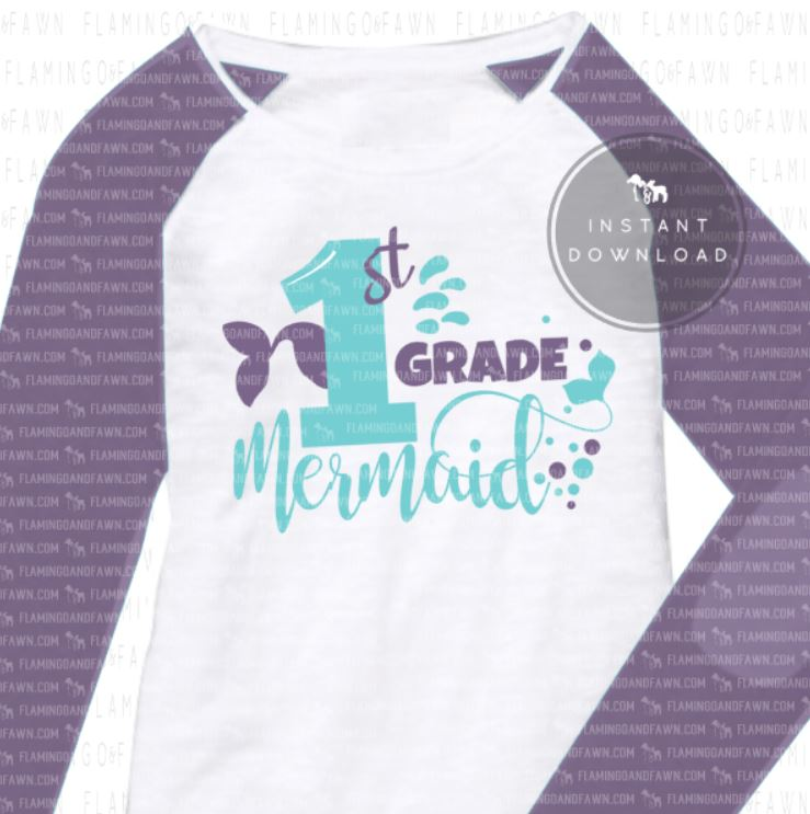0867 1st grade mermaid