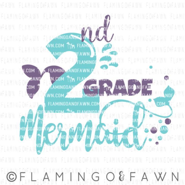 2nd grade mermaid svg