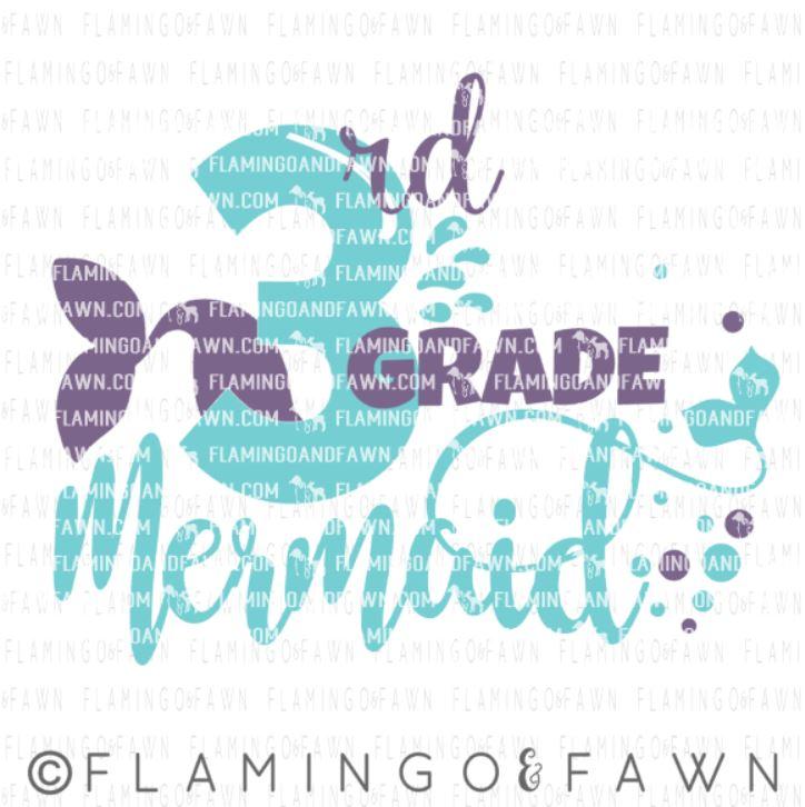 3rd grade mermaid svg