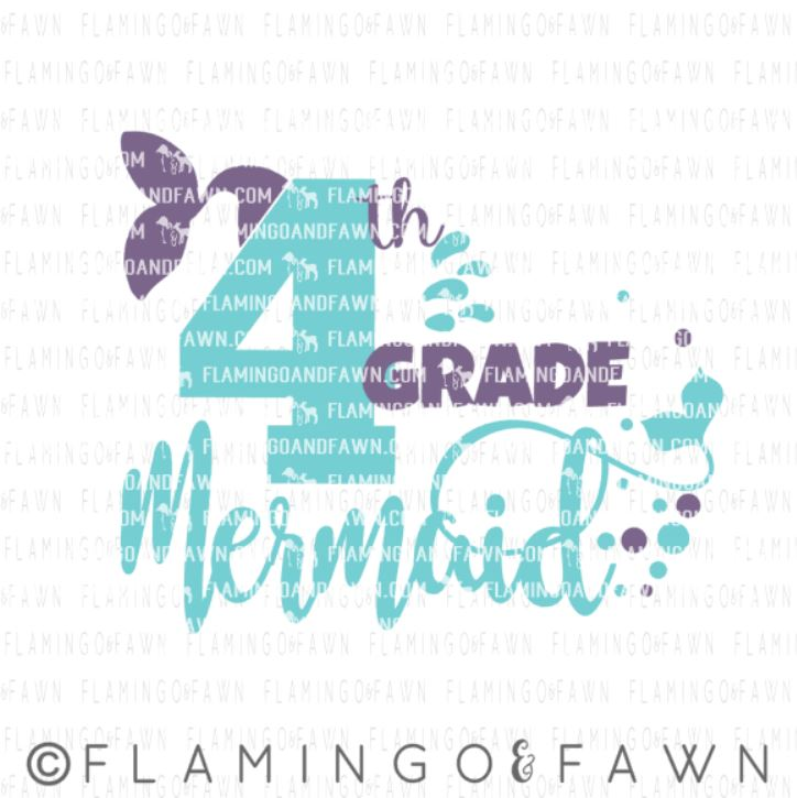 4th grade mermaid svg