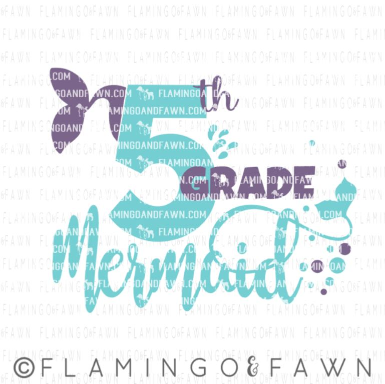 5th grade mermaid svg