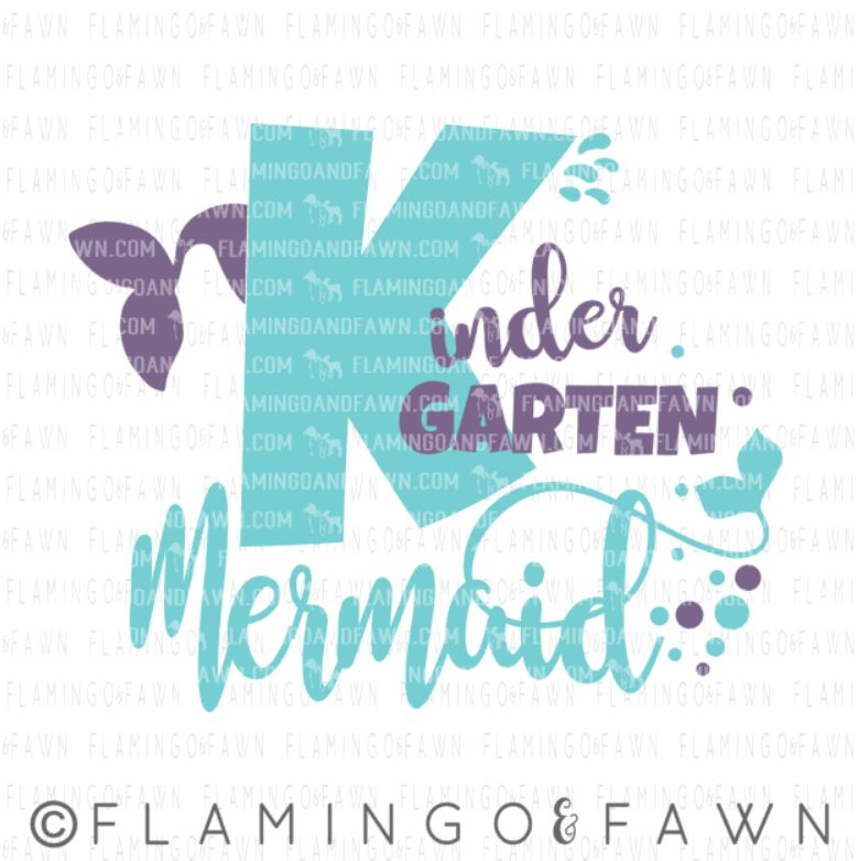 kindergarten mermaid svg