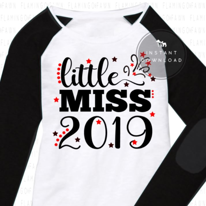 little miss 2019 svg