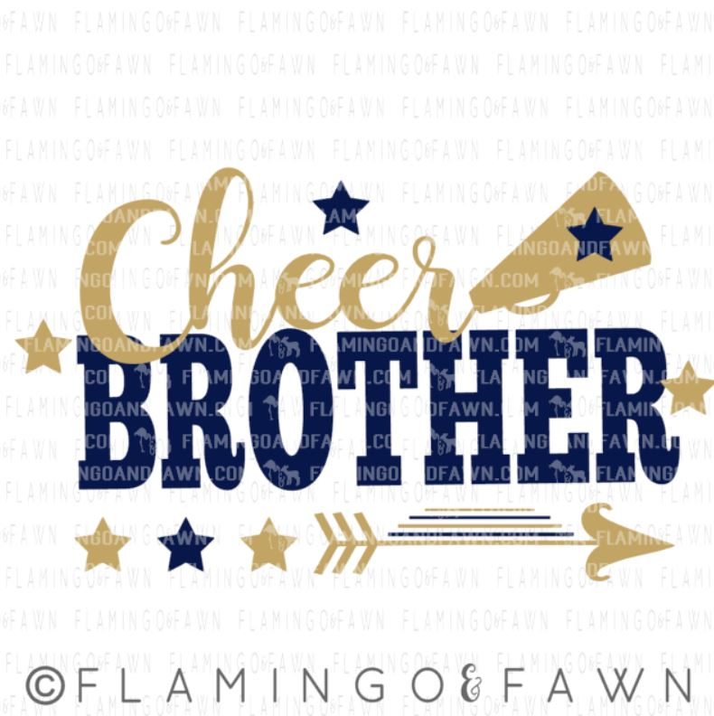 cheer brother svg